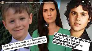 Forcing kids to transition: two horrific cases that EVERYONE needs to know